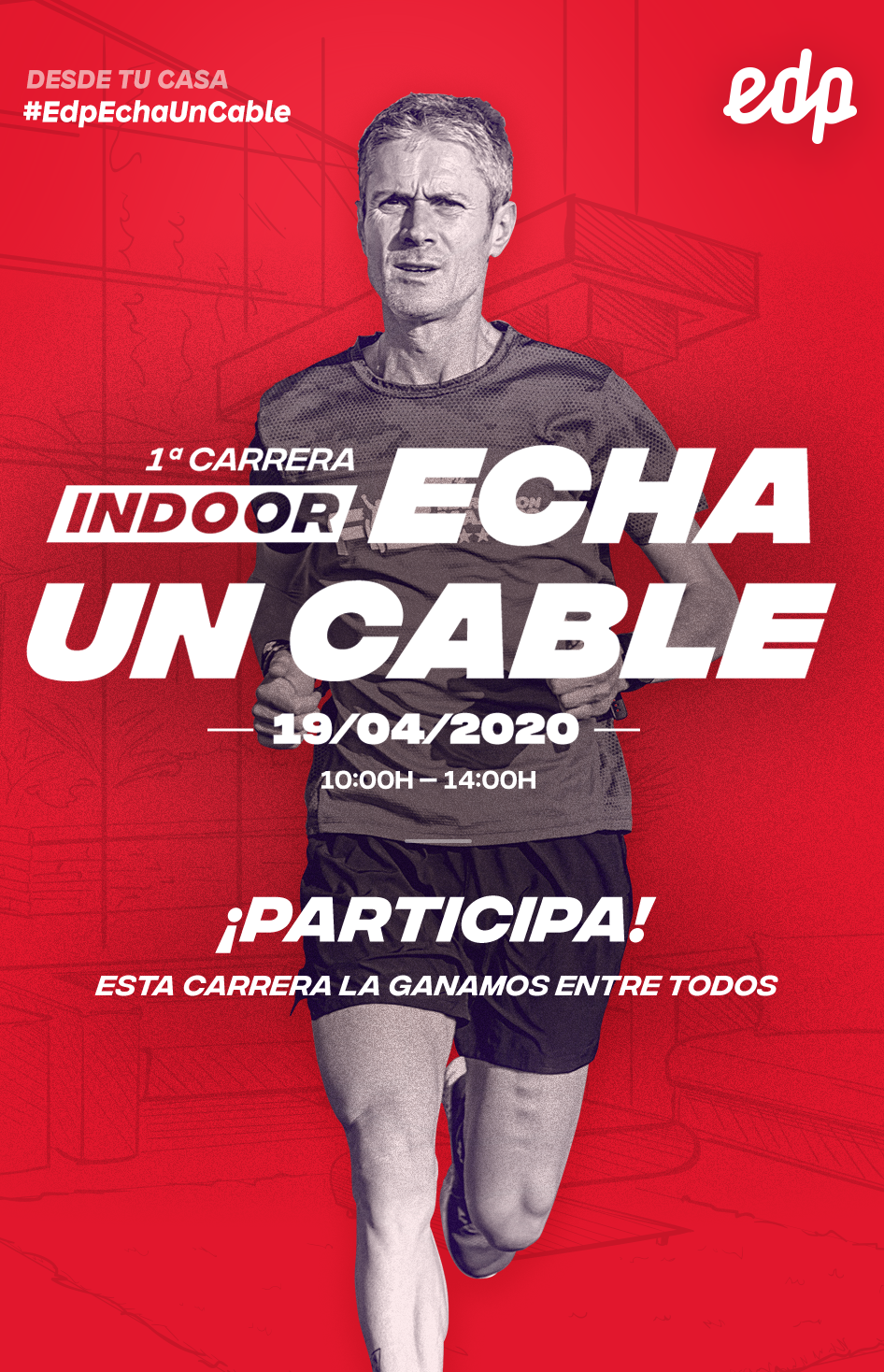 I primera carrera Indoor solidaria #EDPEchaUnCable